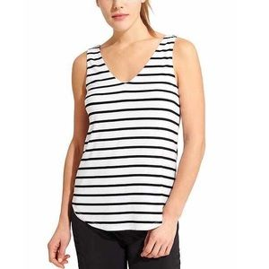 Athleta Striped V-Neck Two Layer Tank Top ✨
